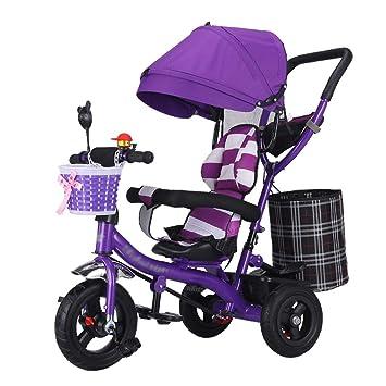 Cochecito de bebé Trike Moto Marco de Acero de Alto Carbono Carrito para niños con barandilla