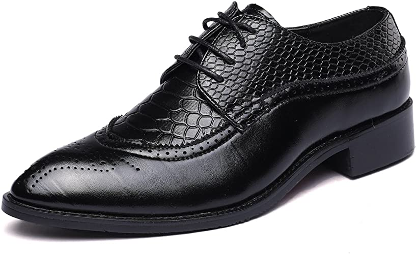 Men/'s Dress Shoes Wing Tip Classic Lace Up Fashion Oxfords Casual Colors Sizes