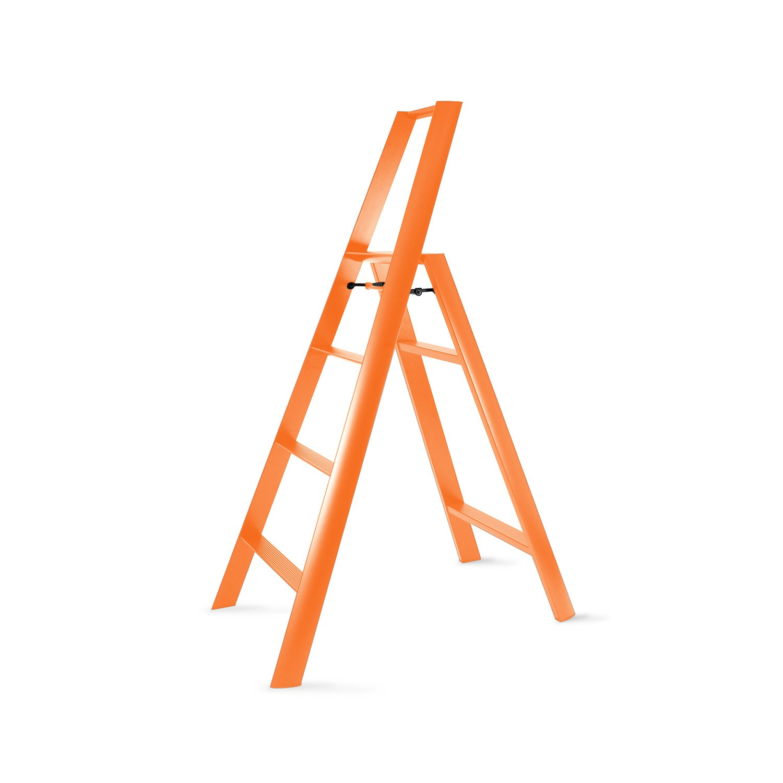 Sensational Hasegawa Ladders Ml2 0 4Or Lucano Step Ladder Orange Cjindustries Chair Design For Home Cjindustriesco