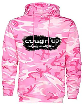 Amazon.com: Cowgirl Up Pink Camouflage Hoodie By Southern Designs ...
