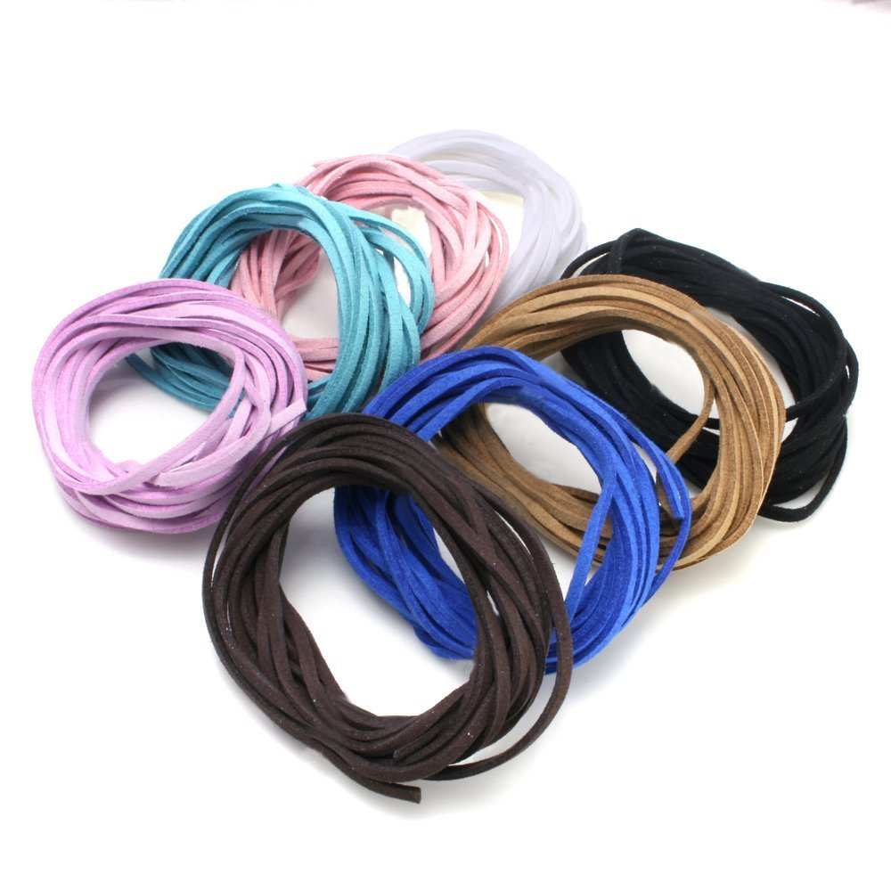 Charisma Beading Supplies Flat Faux Leather Cord for Jewelry Making, Mix Color (8 Colors, 3.3 Yards/ Color) 4336862036