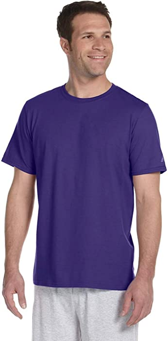 Ringspun T Shirt >> Amazon Com New Balance Combed Ringspun Tee S Purple Sports