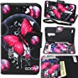 ZTE Max Duo LTE/Imperial Max/Kirk Case, SOGA [Pocketbook Series] PU Leather Magnetic Flip Design Wallet Case for ZTE Max Duo 4G LTE/Imperial Max/Kirk - Pink Butterfly