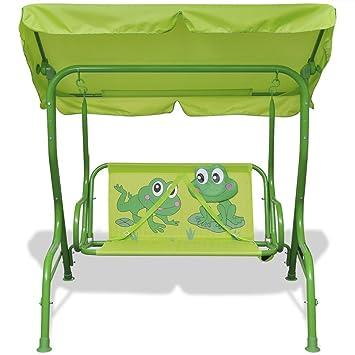 Superior Anself Kids Swing Seat Patio Swing Chair Metal Seat Children For Garden  Green