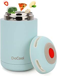 DaCool Hot Food Jar Vacuum Insulated Stainless Steel Thermoses Food 16 oz School Lunch Containers for Kids Adult Office Leak Proof Keep Food Hot Cold Warm Container for Picnic Outdoors,BPA Free - Blue
