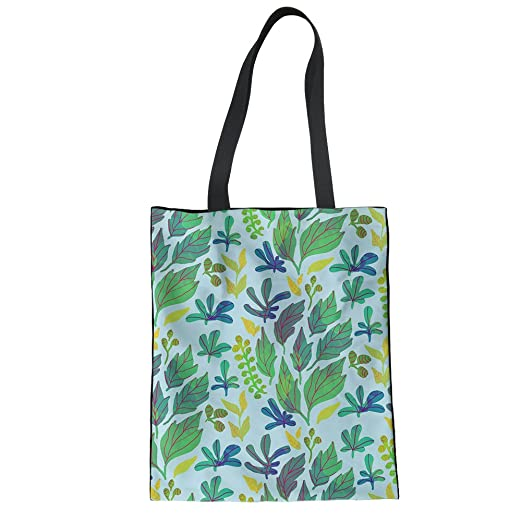 9d71cd6739 Amazon.com  FOR U DESIGNS Foldable Reusable Grocery Bags Floral Cotton  Linen Tote Bag  Clothing