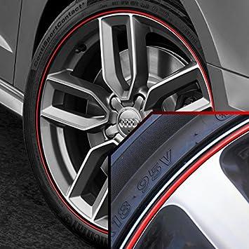 Amazon Com Upgrade Your Auto Wheel Bands Red In Black Pinstripe Rim