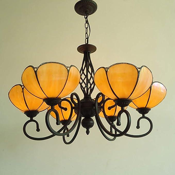 LYEJFF Iluminación de la lámpara de Estilo Tiffany, Retro ...
