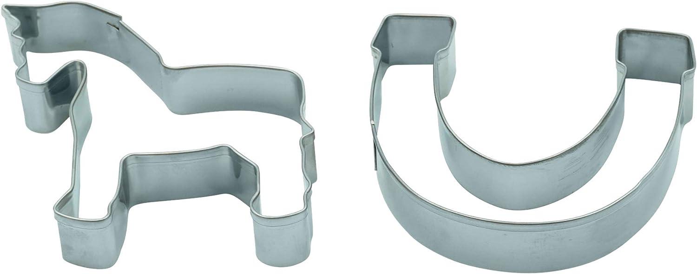 Unbekannt Juego Caballo y Herradura 7cm Städter–Molde para Galletas, diseño de Amuleto de la Suerte Moldes para Galletas