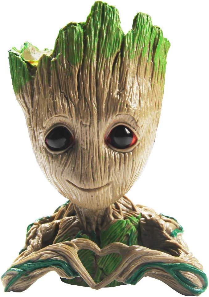 SoB Flowerpot Treeman Baby Groot Succulent Planter Cute Green Plants Flower Pot Guardians of The Galaxy (Love)