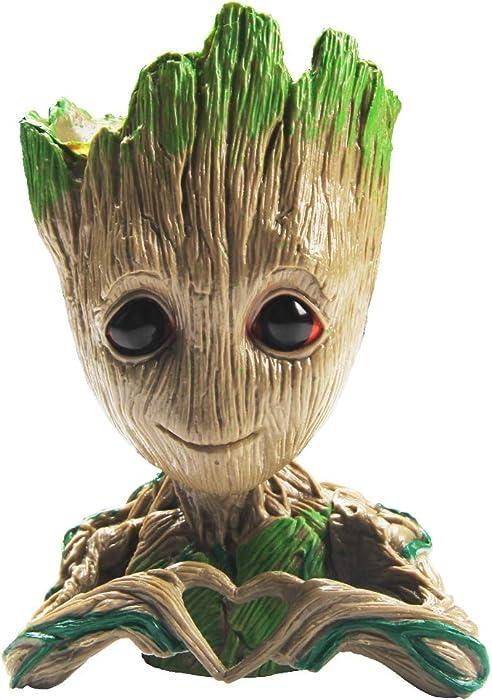 SoB Flowerpot Treeman Baby Groot Succulent Planter Cute Green Plants Flower Pot Guardians of The Galaxy (Love)