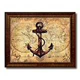 SpotColorArt NAUTICALMAP Handcrafted Framed Canvas Print For Sale