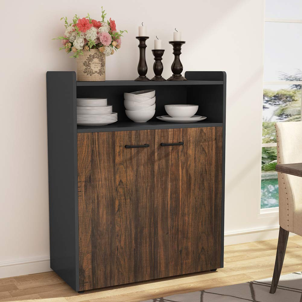 Tribesigns Sideboard Buffet Storage Cabinet, Kitchen Serving Buffet Table Home Cupboard with Doors for Dining Room