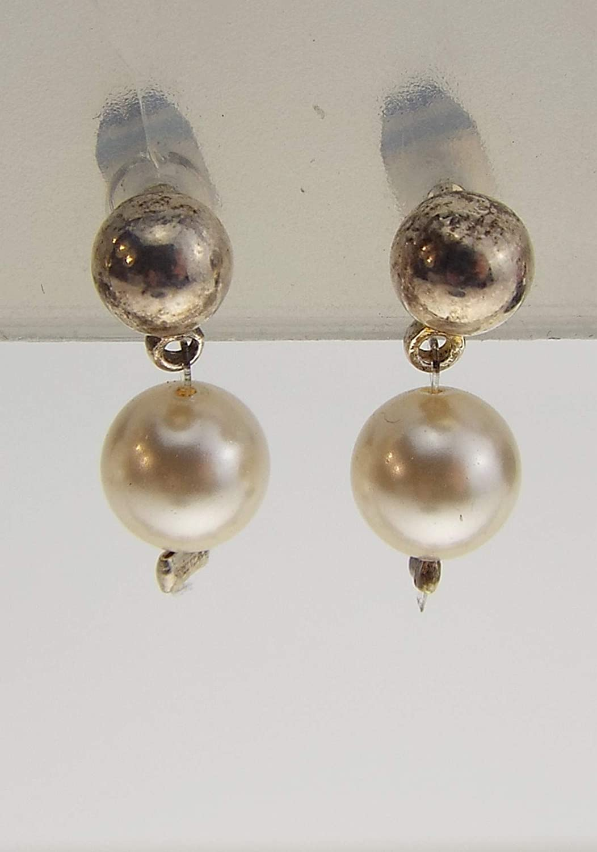 Pendientes de perlas de marfil. Joyas de boda. Cristal de swarovski - Pendientes de novia.