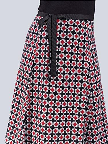 Optik Damen by in Kleid mit Alba 2 1 Moda Formstabil Schwarz Fx0q5TwRz