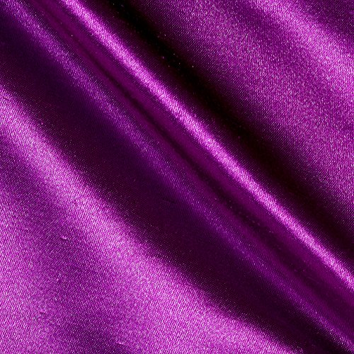 Ben Textiles Shantung Sateen Jewel Purple Fabric by The Yard, Purple Dawn