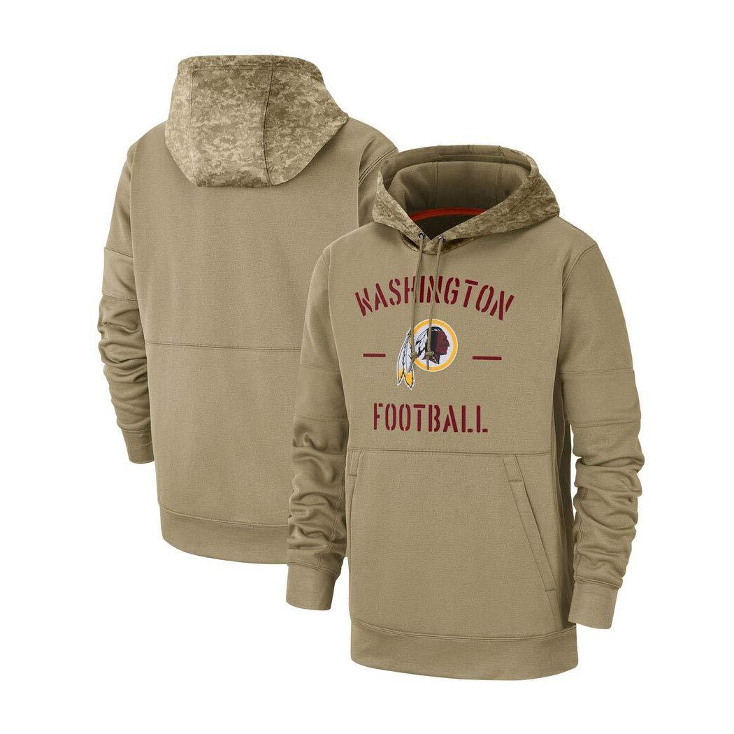 Color : Beige, Size : XL YUN-SWEATHIRTS Herren Kapuzenpulli Pullover Sweatshirt Hoodie for Washington Redskins American Football Fans Trikots