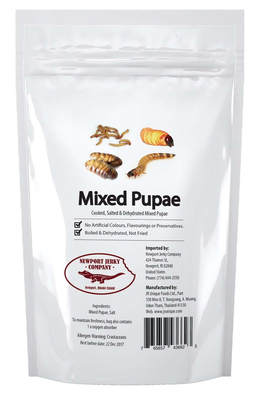 Newport Jerky Company Mixed Pupae (Bag of Mixed Edible Insects)