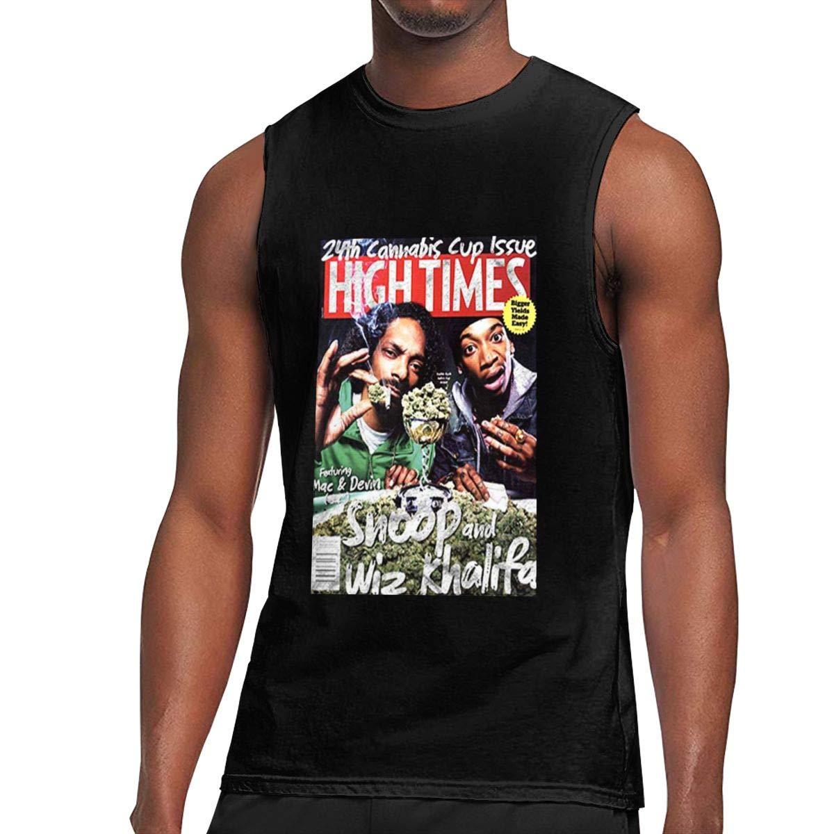 Seuriamin Snoop Dogg Wiz Khalifa Kush Weed Ganja Sativa Indica S Funny Athletic Sleeveless
