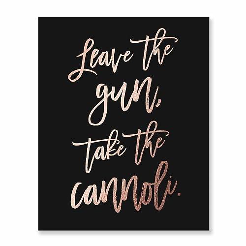 Amazon Wall Art Print Leave The Gun Take The Cannoli Funny