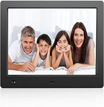 Flyamapirit Digital Picture Frame 8 inch Electronic Digital Photo Frame