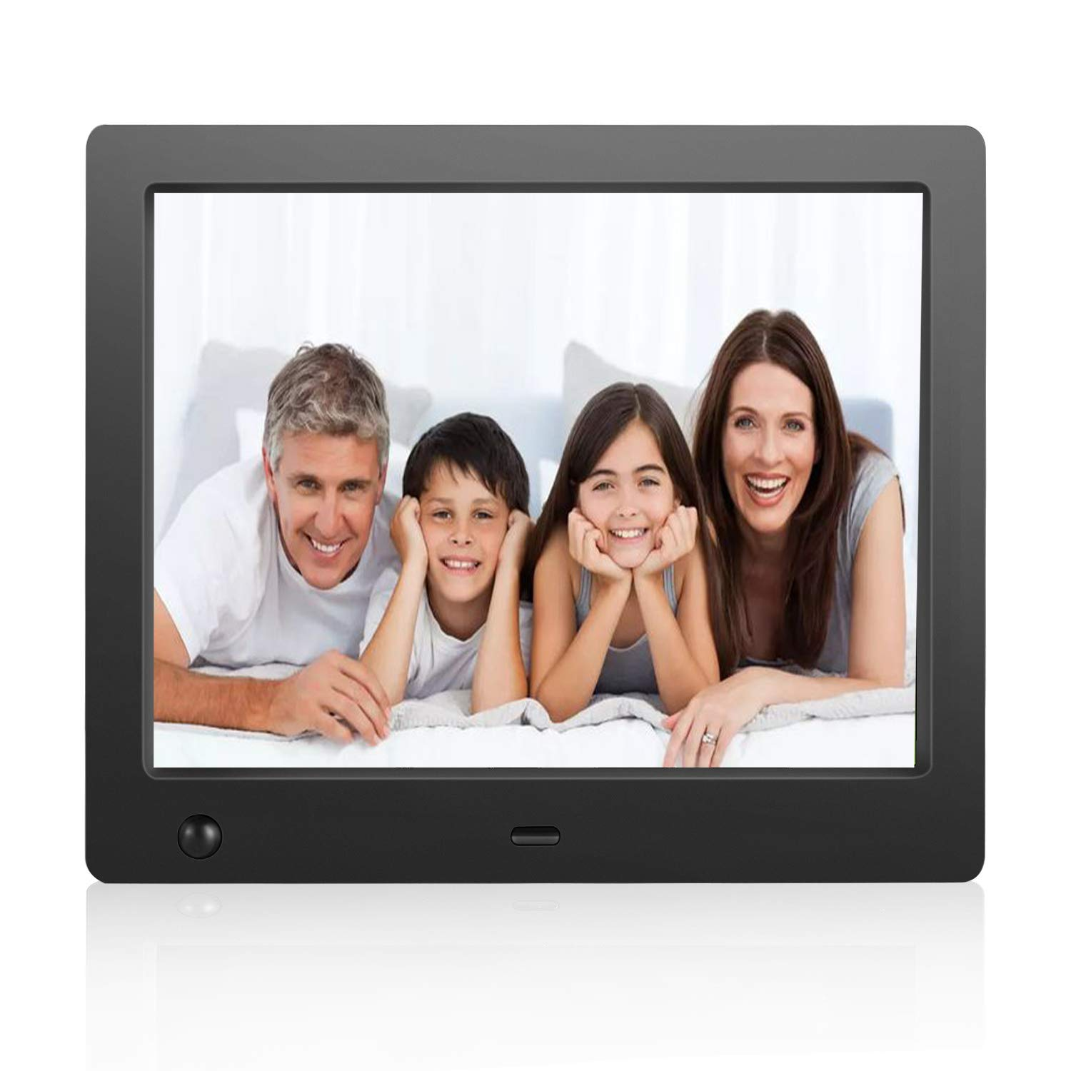 Flyamapirit Digital Picture Frame 8 inch Electronic Digital Photo Frame with High Resolution 1024x768 IPS LCD and Motion Sensor/1080P 720P Video Player/Calendar/Time/Remote Control/Best for Gift by FLYAMAPIRIT