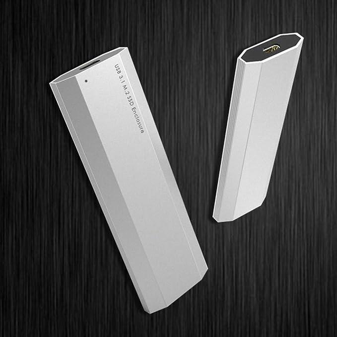 Laileya - Carcasa para Disco Duro SSD (USB 3.1, NVMe PCIE, HDD M.2 ...
