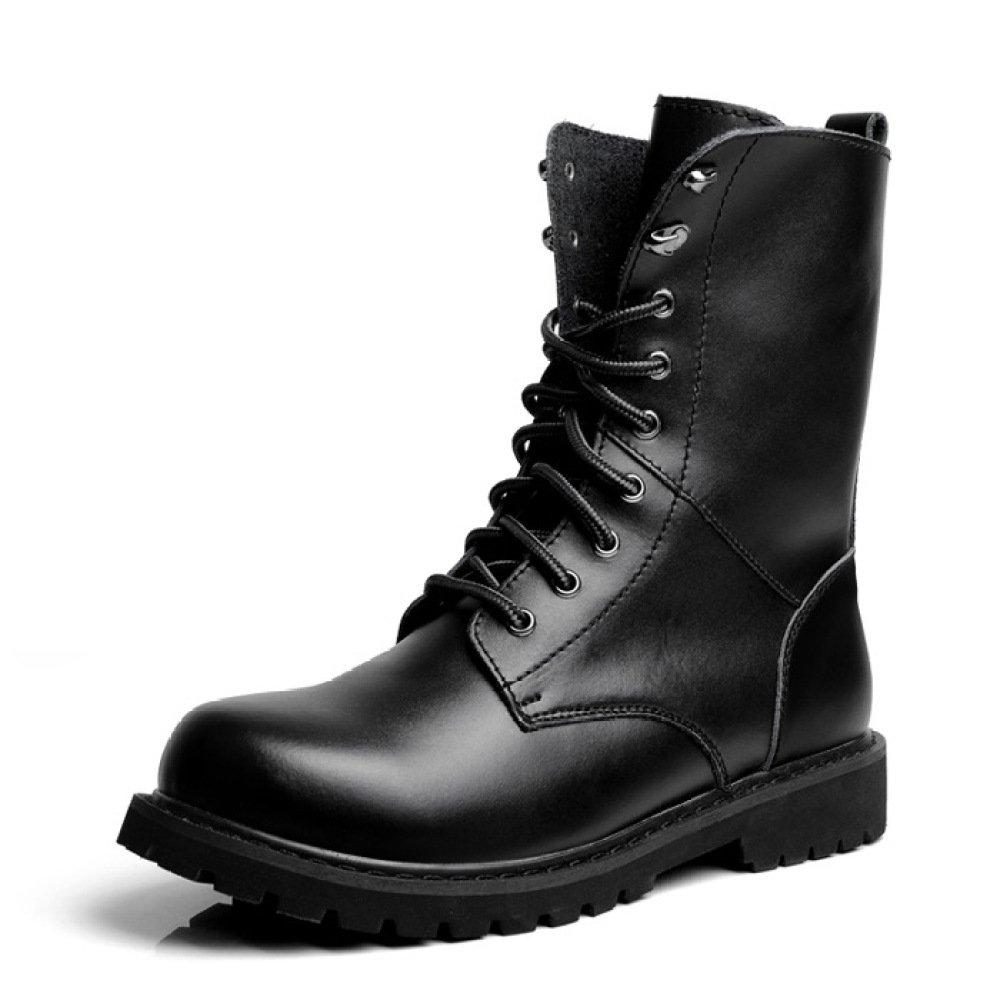 QIKAI Militärstiefel Für Männer Herren Winter Plus Stiefel Aus Baumwolle Große Martinstiefel Stiefelies
