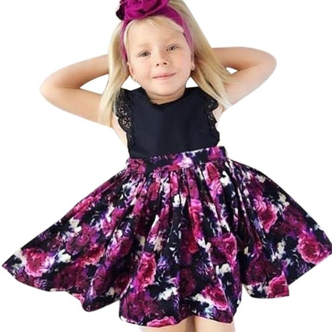 ❥Elecenty Mädchen Baby Schwester Prinzessin Kleid,Tutu Kleid ...