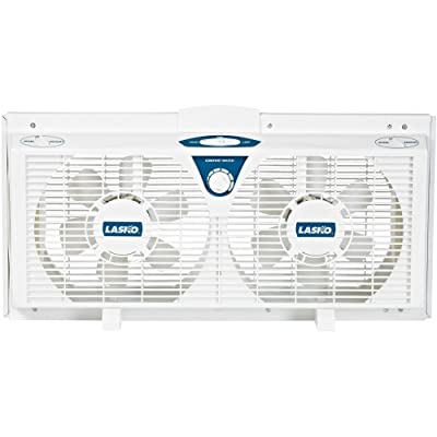 Lasko 2138 8-Inch Electrically Reversible Twin Window Fan