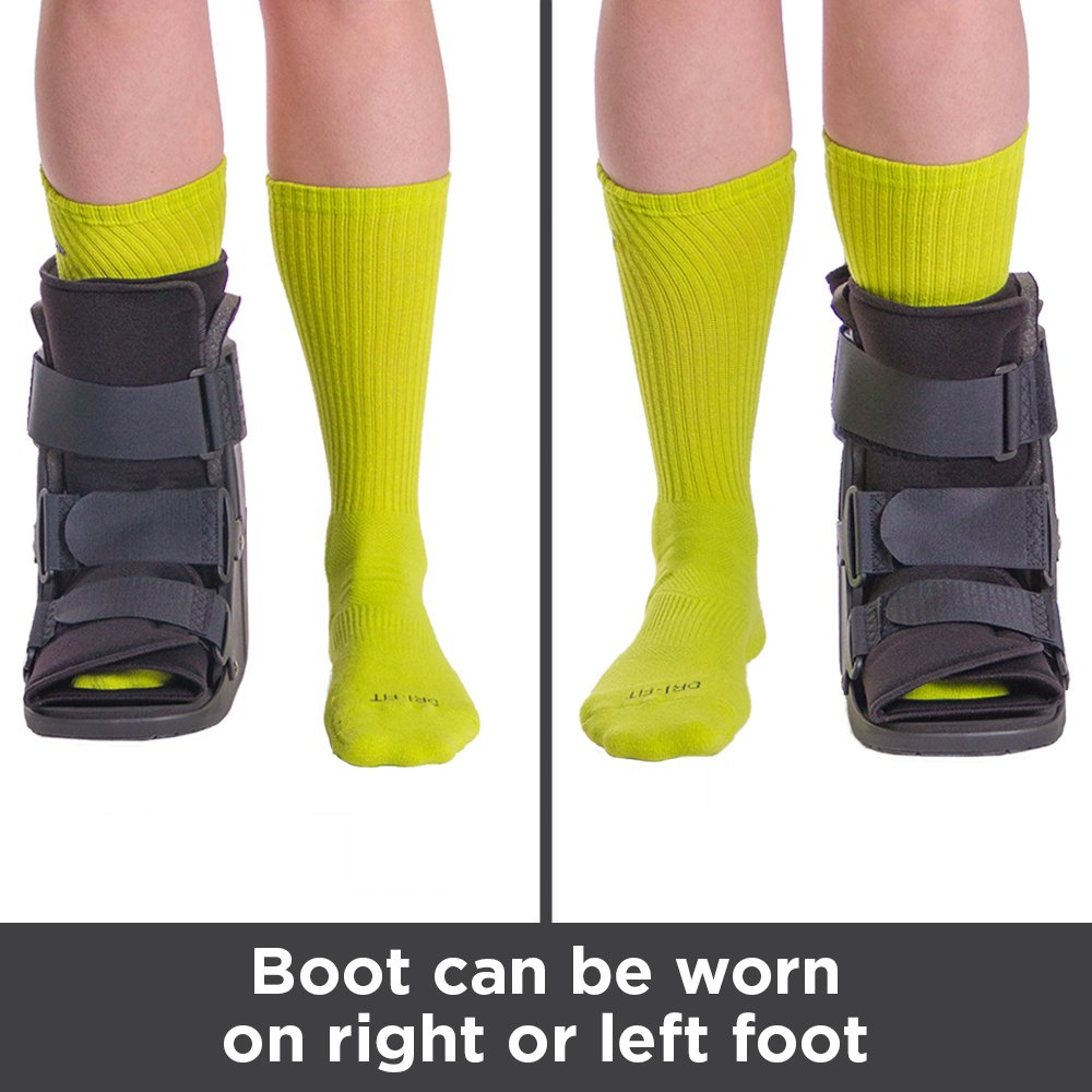 Closed toe medical walking shoe foot protection boot - Amazon Com Braceability Short Broken Toe Boot For Fracture Recovery And Healing After Foot Or Ankle Surgery M Health Personal Care
