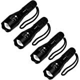 4 Pcs Military Grade 5 Mode XML T6 S3000 Lumens Tactical Led Waterproof Flashlight - Get 4 for Only $29.95