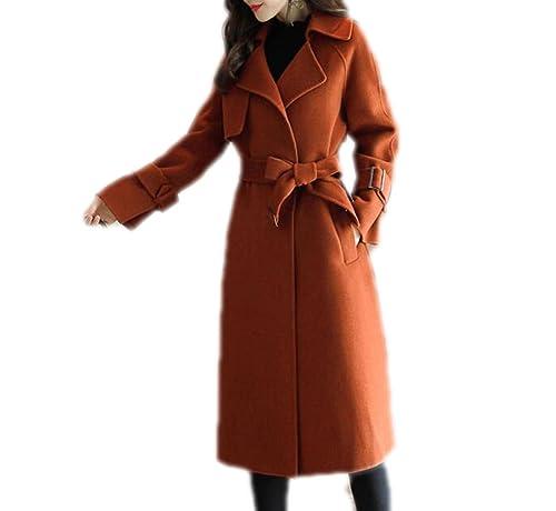 QPALZM Abrigo De Lana Abrigo De Invierno Mujer Más Gruesa Capa De Abrigo Largo De Moda Nueva