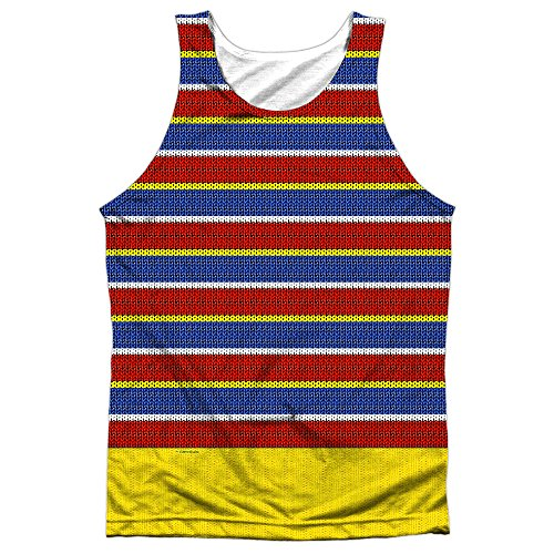 A&E Designs Ernie Costume Sublimation Tank Top (Front & Back), Small ()
