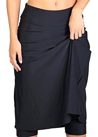 c6e5333376 Ella Mae Modest Women s High Waist Knee Length Swim Skirt with Leggings  (XS-XXXXL