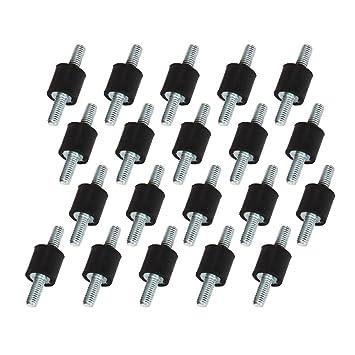 CNBTR - Tornillos dobles silentblock M3 (antivibraciones, montaje para usos industriales, goma, 20 unidades), negro: Amazon.es: Bricolaje y herramientas