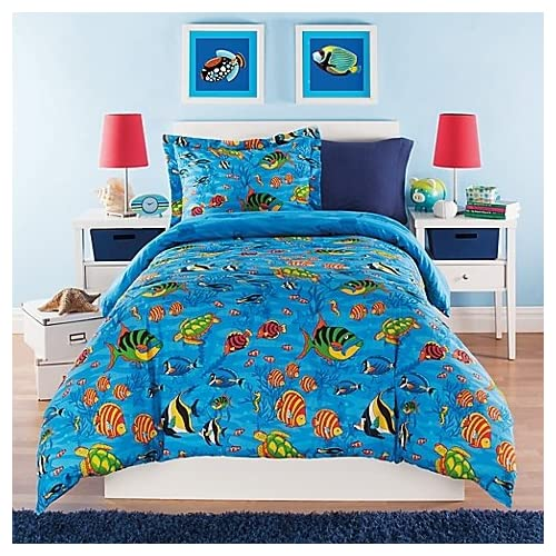 Kidz Mix Under the Sea Comforter Set, Twin, Blue for sale