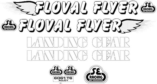 WHITE SE RACING OM FLYER STICKERS NEW OM FLYER BMX DECAL STICKER SET