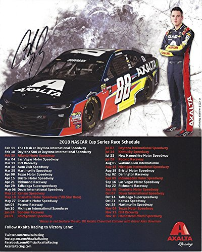 AUTOGRAPHED 2018 Alex Bowman  88 Axalta Racing Team (Hendrick Motorsports)  Monster Energy Cup Series Picture 8X10 Inch Signed NASCAR Collectible Hero  Card ... 2ca062b0b936