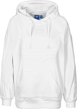 adidas Flock Hood Sweatshirt, Damen 34 weiß: