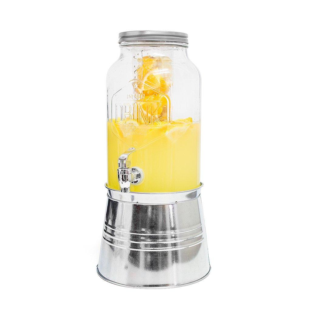 Balvi Dispensador de Bebida Drink Color Transparente con infusor y peana Capacidad: 5,6L Cristal: Amazon.es: Hogar
