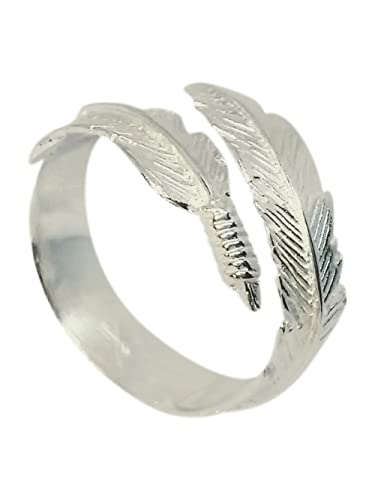 Elli Women's 925 Sterling Silver Adjustable Feather Wrap Ring QPryRn