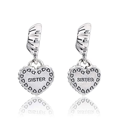 008bab8e5 Image Unavailable. Image not available for. Color: Pandora My Special Sister  Silver Dangle Charm 791383