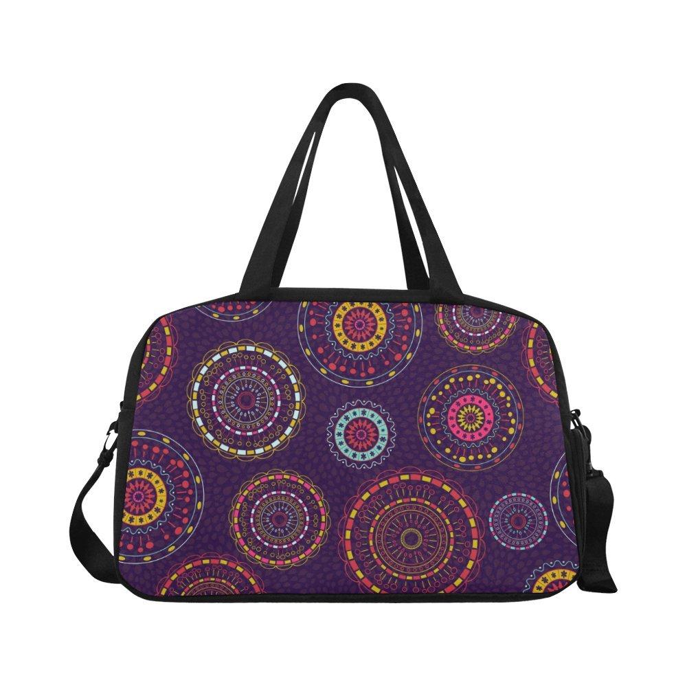 Unique Design Duffel Bag Abstract Background Travel Tote Bag Handbag Crossbody Luggage