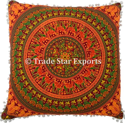 26 x 26 Euro Pillow Sham Decorative Mandala Cushion Cover,