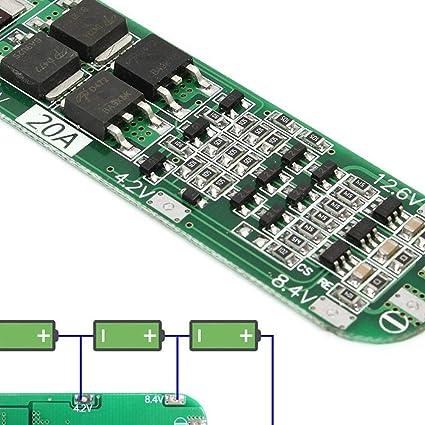 3S 12 V 10 A Cargador BMS 18650 Li-Ion Batería De Litio Protección Junta