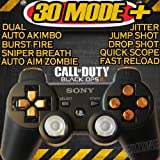 Playstation 3 Black/gold Rapid Fire Modded Controller 30 MODE for Black Ops 2 Cod Mw3 Sniper Breath Jump Shot Jitter Quick Scope Auto Aim