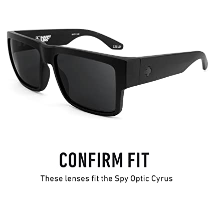 8b1f32b0546 Amazon.com  Revant Polarized Replacement Lenses for Spy Optic Cyrus Elite  Black Chrome MirrorShield  Sports   Outdoors