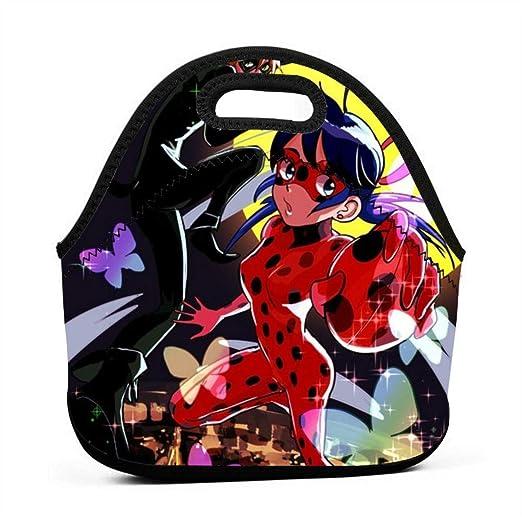 XINXINDY Miraculous Ladybug CP - Fiambrera unisex para ...