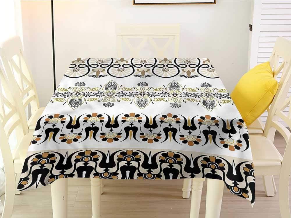 Ethnisch Tischdecke Geometrisches Streifen-Design Pflegeleicht
